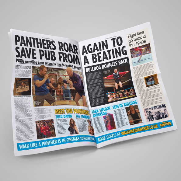 Walk Like A Panther spread in Daily Star